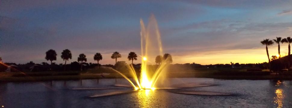 Main Fountain at Sunset